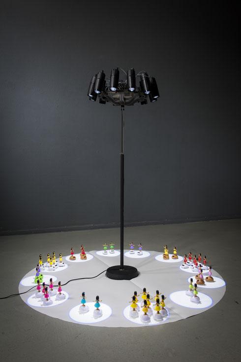 Lichtinstallation - LIGHT MOVED - 2017 Konrad Wallmeier