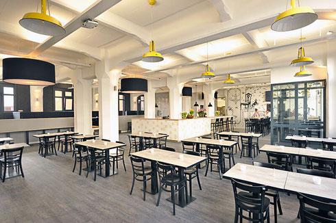Ristorante Alitalia en Industriehof Hammerbrook, Hamburgo