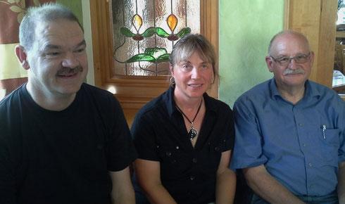 Der neu gewählte Vorstand: Leonhard Sedlmeir, Ute Schübele-Weber, Siegfried Bless