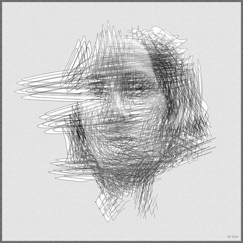 Werdung (digitale Zeichnung/mixed media)