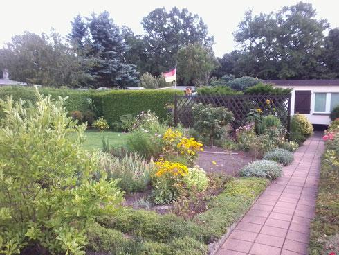 ein gepflegter Garten