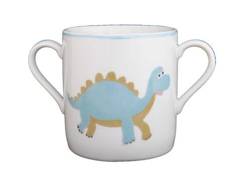 Tasse bébé dinosaure porcelaine peinte à la main personnalisable