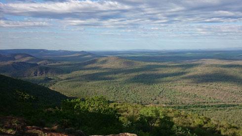 Blick von Shewula ins Mbuluzi Tal