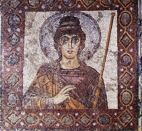 La Dame de Cathage (mosaïque du VIème siècle)
