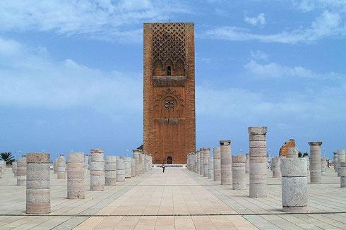 La tour Hassan II à Rabat