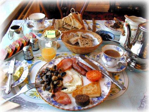 Petit déjeuner irlandais traditionnel
