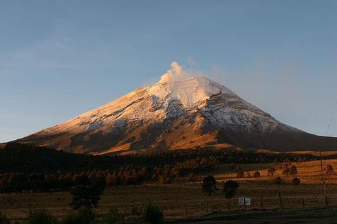 Volcan Popocatepl, site classé au patrimoine de l'UNESCO