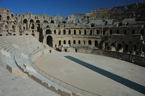 Amphithéâtre d'El Jem, vestige de la présence romaine