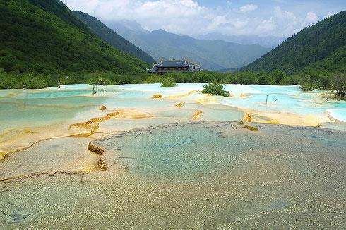 Les piscines calcaires de Huanglong (province du Sichuan)