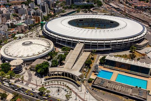 Le stade Maracanã à Rio de Janeiro