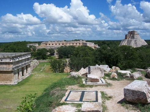 Uxmal, ville pré-hispanique, site classé au patrimoine mondial de l'UNESCO
