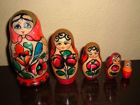 Les célèbres Matryoshka russes