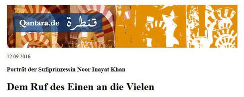 Porträt der Sufiprinzessin Noor Inayat Khan