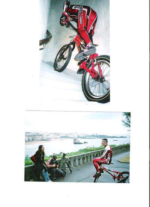 Biarritz, interview et ascension du phare pour naevus 2000.