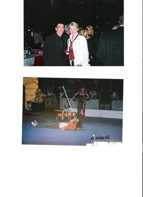 Démo avec Ilario et soirée avec Danièle GILBERT au cirque de Monaco.