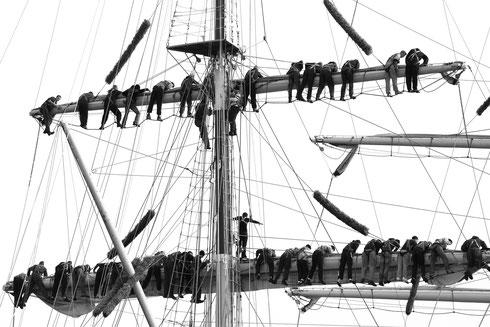 Segel setzen in Gdingen  Foto: Tobias Bunners