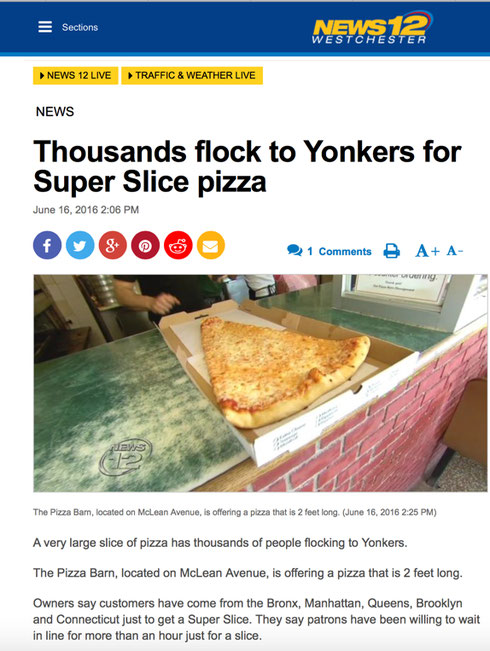 ABOUT US - Pizza Barn, Yonkers