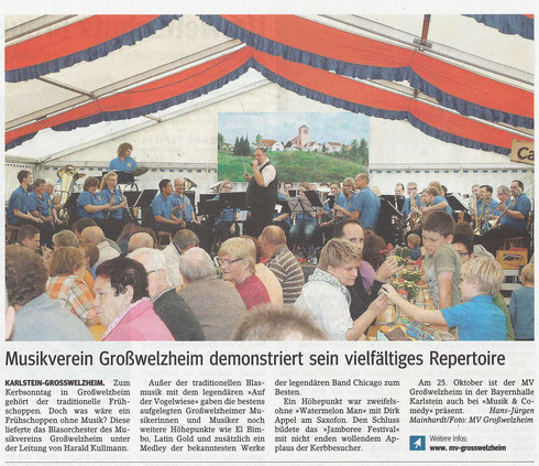 Welzemer Kerb 2014, Main-Echo v. 03.10.2014