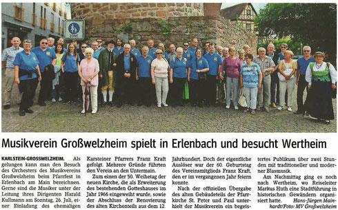 Besuch in Erlenbach 2016, Unser Echo v. 15.07.2016