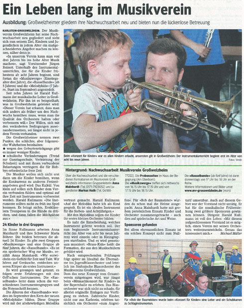 Konzert für Kinder 2014, Main-Echo v. 14.03.2014