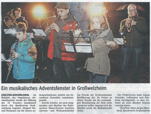 Adventsfenster 2014, Main-Echo v. 09.01.2015