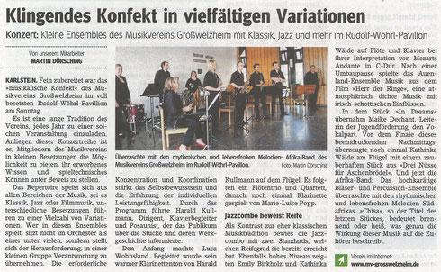 Musikalisches Konfekt, Main-Echo v. 21.04.2015