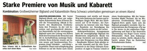 Musik und Kabarett 2011, Main-Echo v. 03.11.2011
