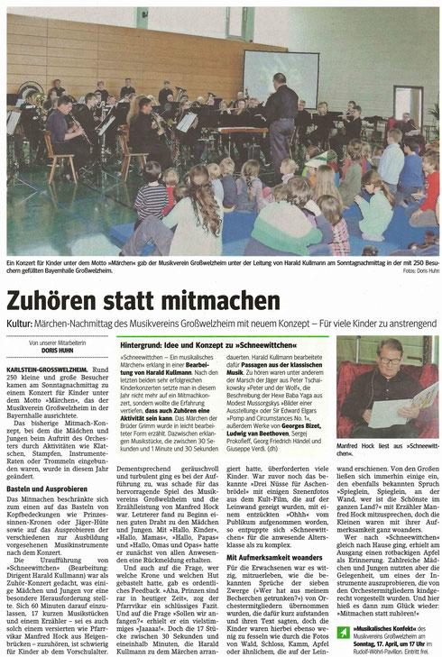 Konzert für Kinder 2016, Main-Echo v. 15.03.2016
