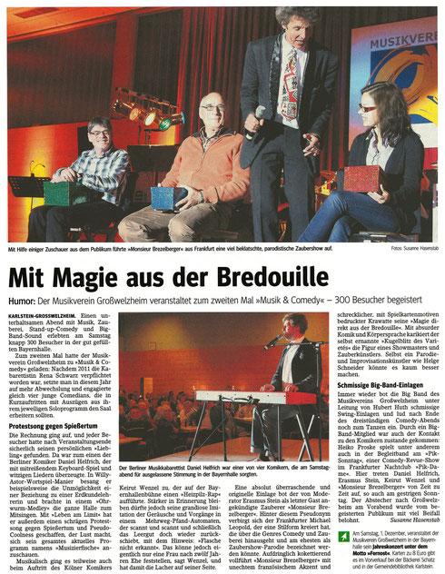 Musik & Comedy 2012, Main-Echo v. 30.10.2012