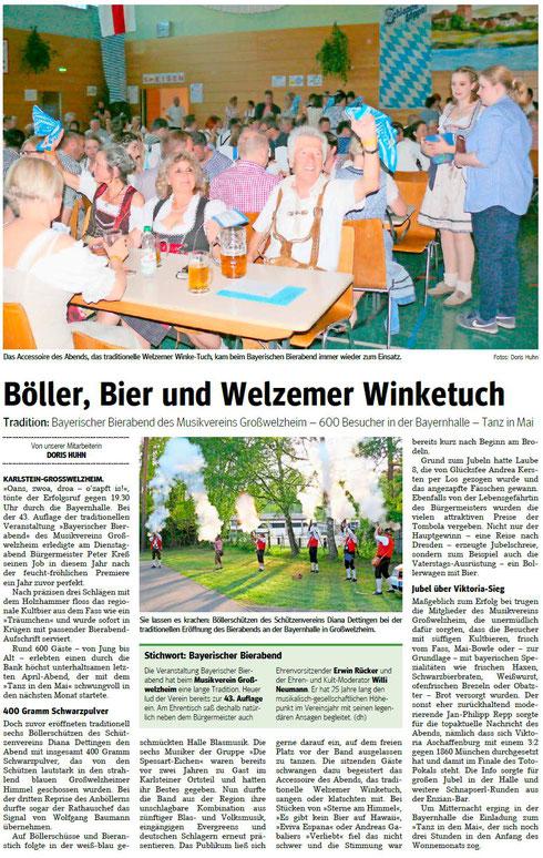 Bayerischer Bierabend 2019, Main-Echo v. 03.05.2019