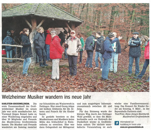 Winterwanderung 2015, Main-Echo v. 23.01.2015