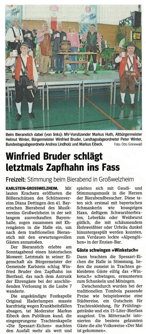 41. Bayerischer Bierabend, Main-Echo v. 2. Mai 2017