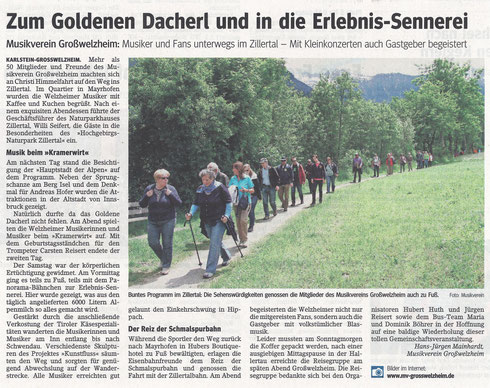 Vereinsausflug 2014, Unser Echo v. 13.06.2014