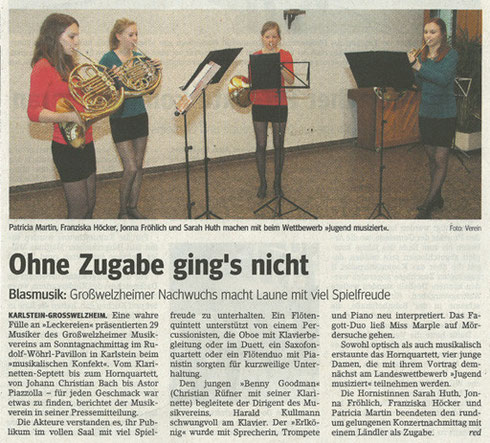 Musikalisches Konfekt 2011, Main-Echo v. 06.04.2011