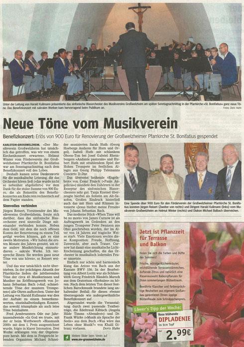Kirchenkonzert 2011, Main-Echo v. 17.05.2011