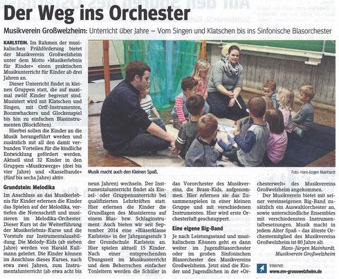 Der Weg ins Orchester, Main-Echo v. 17.04.2015
