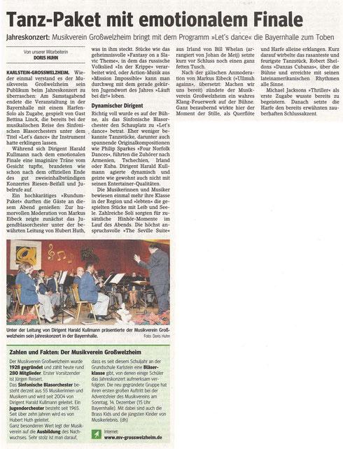 Bericht zum Jahreskonzert 2014, Main-Echo v. 01.12.2014