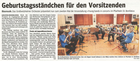 Young Bands in Concert 2012, Main-Echo v. 29.06.2012