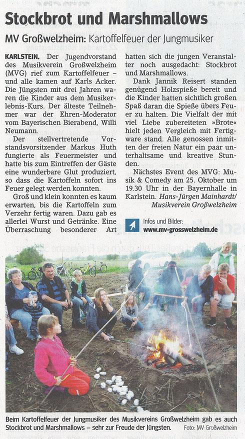 Kartoffelfeuer 2014, Main-Echo v. 17.10.2014