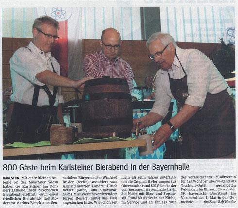 Bayerischer Bierabend 2015, Main-Echo v. 04.05.2015