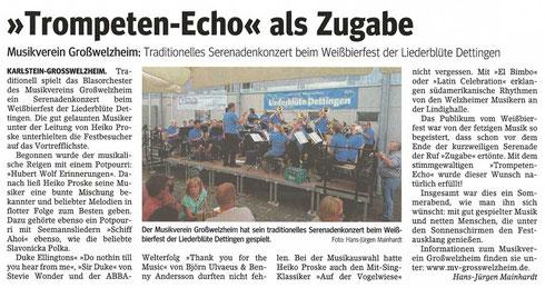 Weißbierfest 2016, Unser Echo v. 21.07.2016