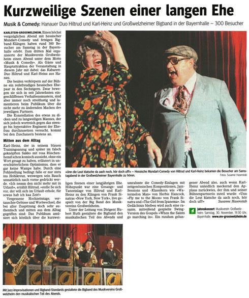 Musik & Comedy 2013, Main-Echo v. 29.10.2013