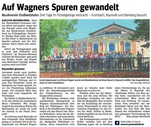 Vereinsausflug 2017, Unser Echo v. 2. Juni 2017