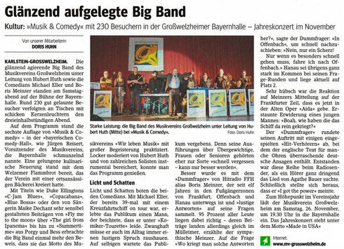 Musik & Comedy 2016, Main-Echo v. 24.10.2016