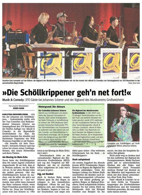 Musik & Comedy, Main-Echo v. 26.10.2015