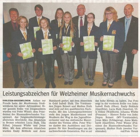 Adventsfeier 2011, Main-Echo v. 22.12.2011