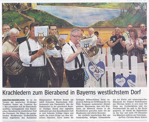 Bayerischer Bierabend 2014, Main-Echo v. 03.05.2014