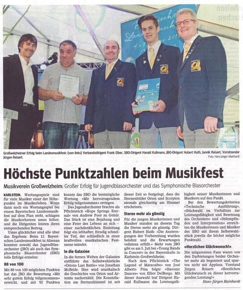 Landesmusikfest, Unser Echo v. 19.06.2015