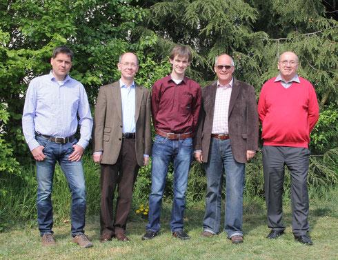 Der Vorstand des Fördervereins im Jahr 2014