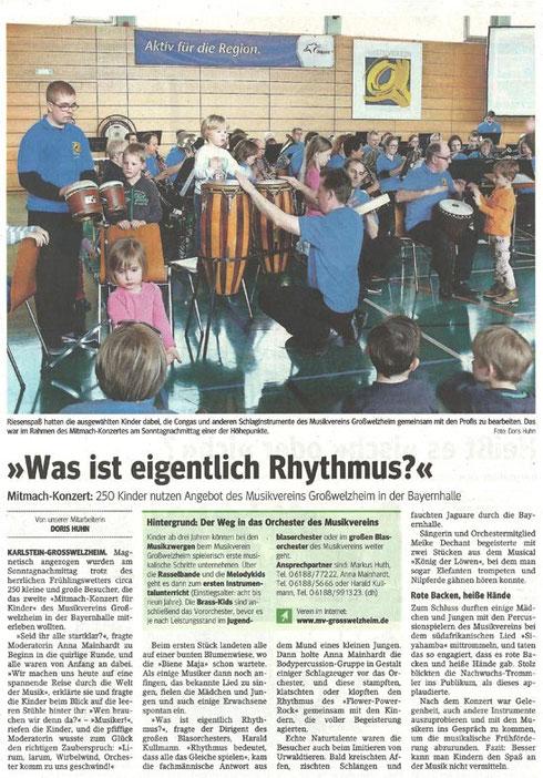 Konzert für Kinder 2015, Main-Echo v. 11.03.2015